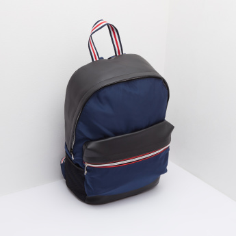 Backpack with Adjustable Shoulder Straps and Grab Handle
