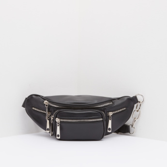 Solid Fanny Pack with Adjustable Strap