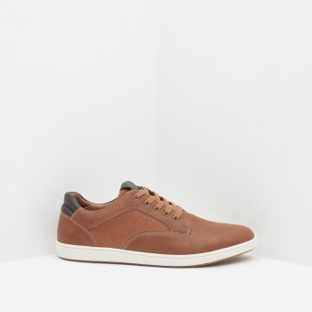 Panelled Derby Shoes with Lace-Up Closure