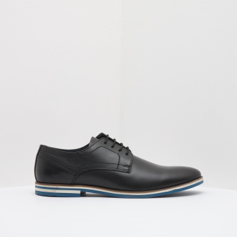 Stitch Detail Oxford Shoes with Lace-Up Closure