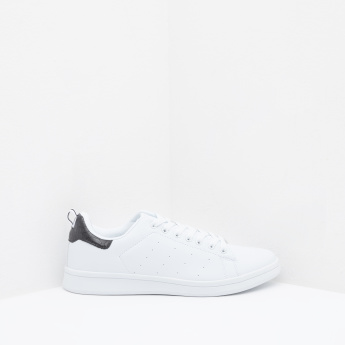 Sneakers with Lace-Up Closure and Pull-On Tab