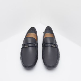 Loafers with Stitch Detail and Slip-On Closure
