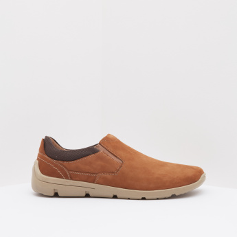 Textured Comfort Shoes with Slip-On Closure